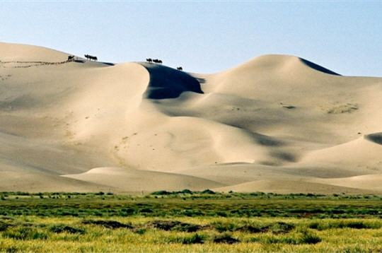 entre Chine et Mongolie le désert de Gobi