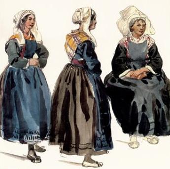costumes bretons, dessin de Lalaisse