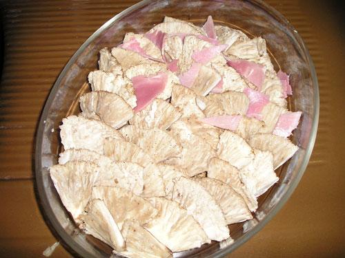 montage du gratin coulemelles