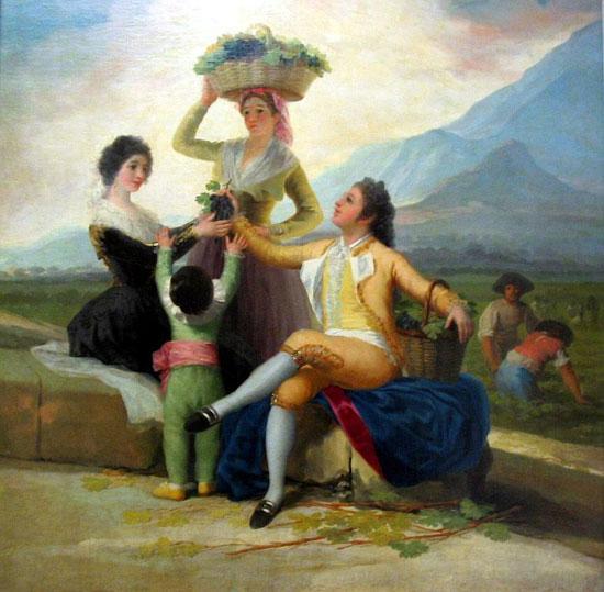 Les vendanges - Goya