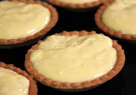 tartelettes et crème pâtissière légère