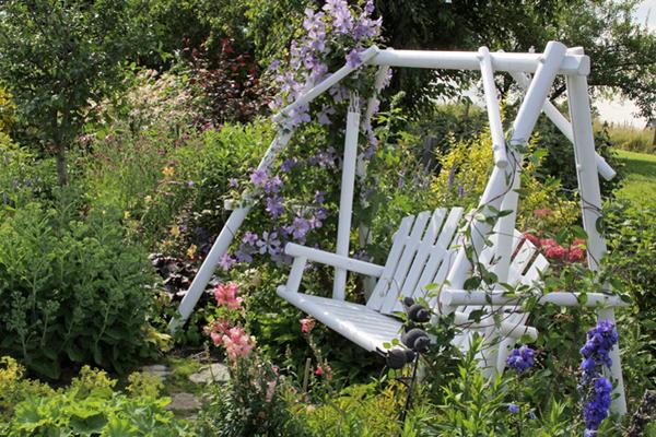 Jardin facile à entretenir, coin repos