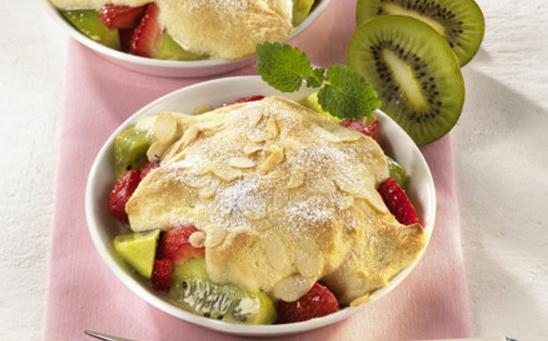 Gratin de kiwis fraises à l'amaretto