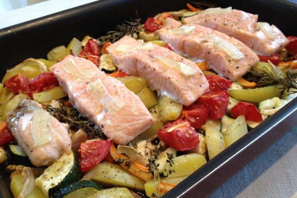 photo 3 - saumon aux légumes à la provençale