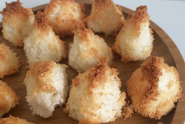 Congolais noix de coco au coeur de framboise