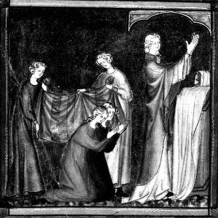 mariage sous le drap - 14 e siècle