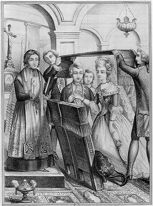 Mariage sous le drap - 18e siècle