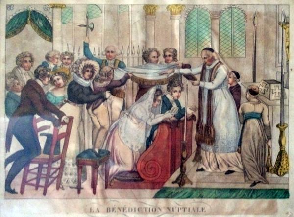 mariage sous le drap (ou poêle) - 19e siècle