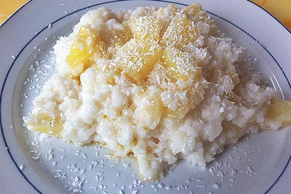 Riz au lait  parfumé noix de coco et ananas