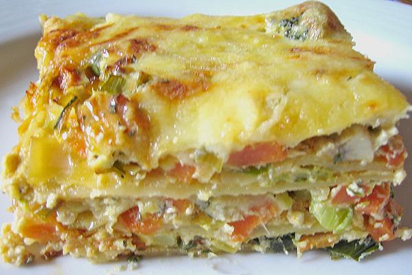 Millefeuille de légumes sauce  béchamel fromage gratiné