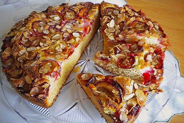 Gâteau aux prunes et amandes