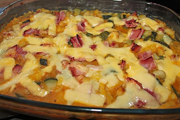 Gratin de pommes de terre potiron en Raclette