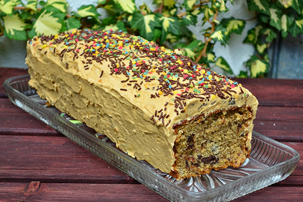 Cake banane chocolat beurre de cacahuète