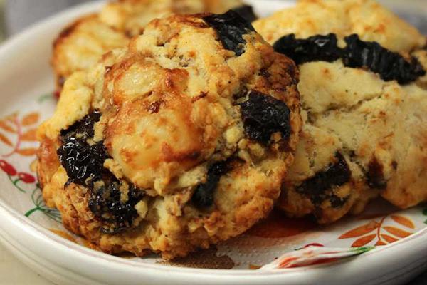 Cookies aux pruneaux bacon et fromage de chèvre
