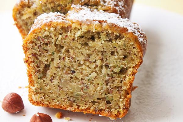 Gâteau courgettes aux noisettes