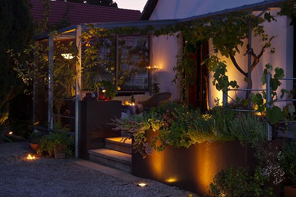 jardin terrasse des soirs d'été