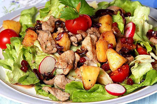 Salade de boeuf aux légumes