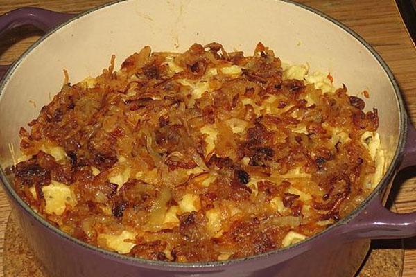 Les Kasespätzle du tyrol  aux oignons frits