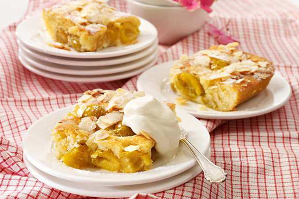 Gâteau aux mirabelles et amandes