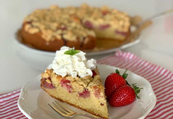 Gâteau croustillant aux fraises