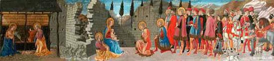 Peinture à l'huile sur bois du XVème Siécle de Giovanni di Francesco (Italie-1428-1459)