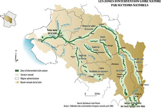 Bassin de la Loire - source Loire Nature