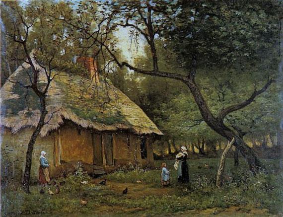 Georges Diéterle, Masure à Saint-Léonard (1878)
