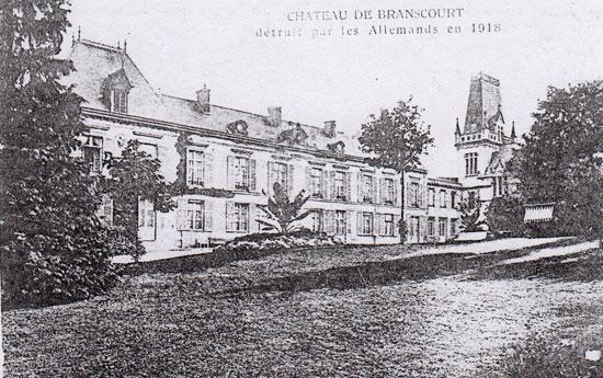 château de Branscourt détruit
